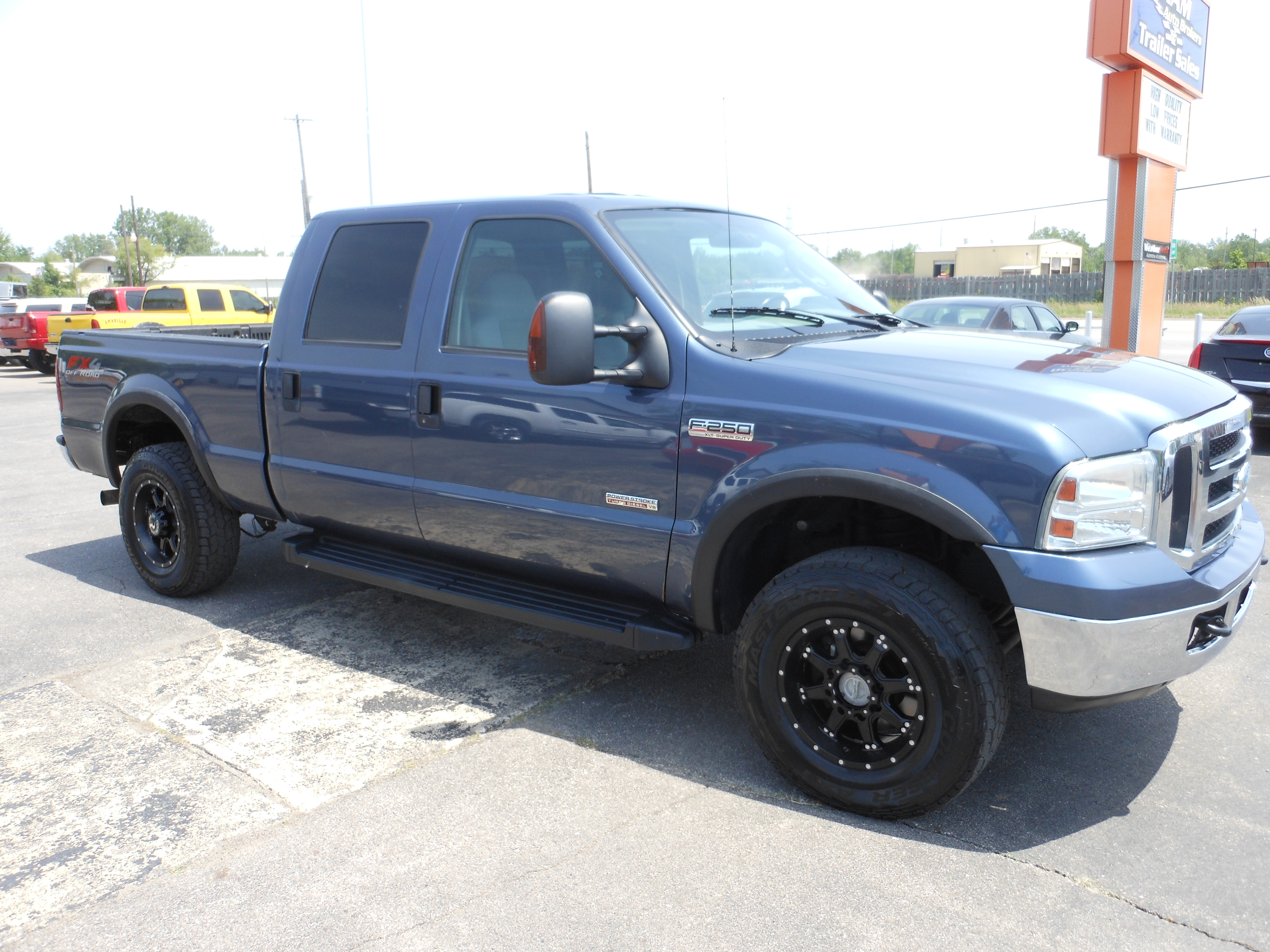 For Sale 2007 Ford F 250 Crew Cab 4x4 Diesel Denam Auto 1955 F250 60l Power Stroke Turbo Engine New Wheels Tires Leveling Kit Alignment 44 Factory Brake Controller Tow Package